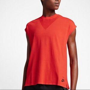 Nike Tech Knit Sports Casual Red Tank Top Sz S